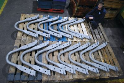 forging - 14 highly specialised lifting bail bars that are used to lift crucibles of molten aluminium